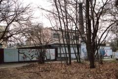 Budynek Obornickiej Mleczarni widok z ulicy Łazienkowej.